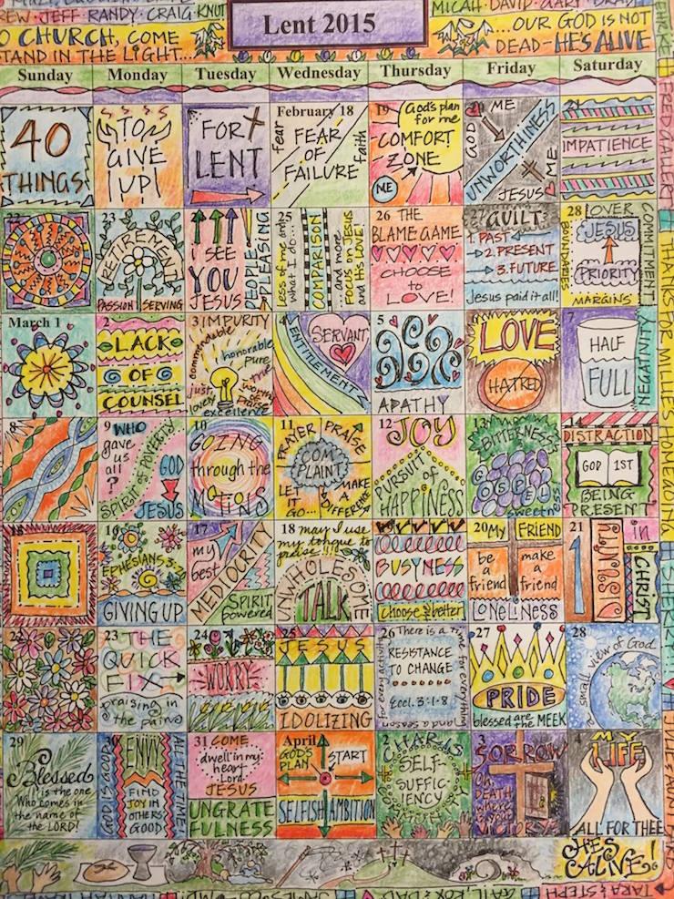 Lent Coloring Calendar