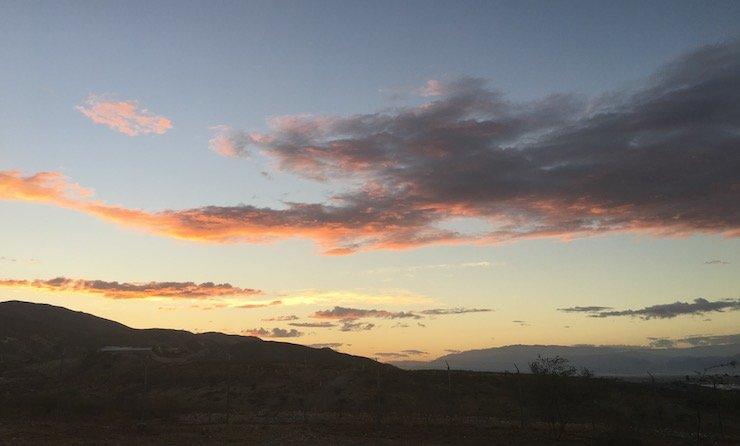 Mountain sunset view