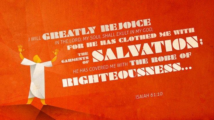Verse Of The Week: Isaiah 61:10a