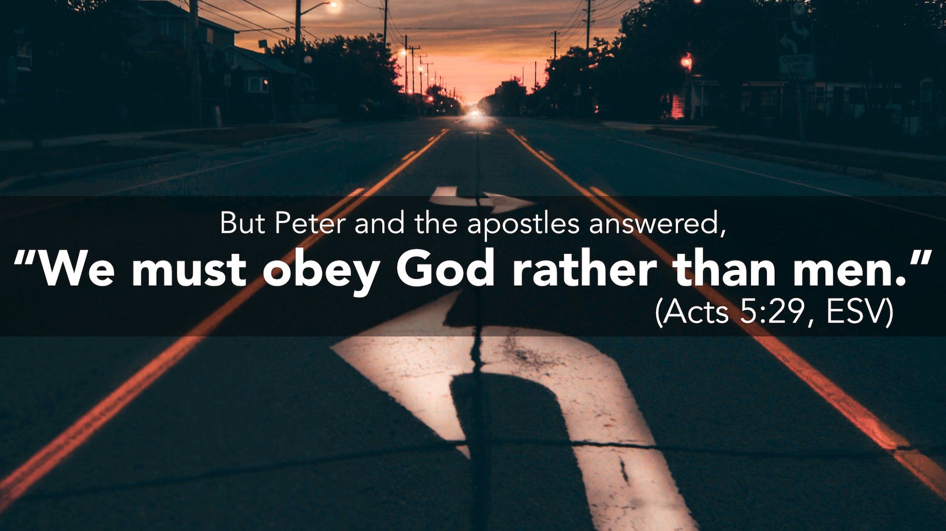 Verse of the Week: Acts 5:29 - philressler.com