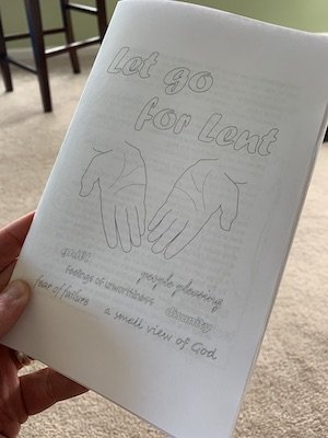 A Printed Let Go For Lent Visual Faith Booklet
